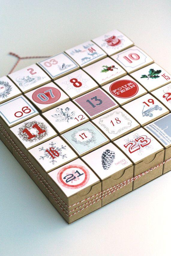 adventní kalendář z krabiček
