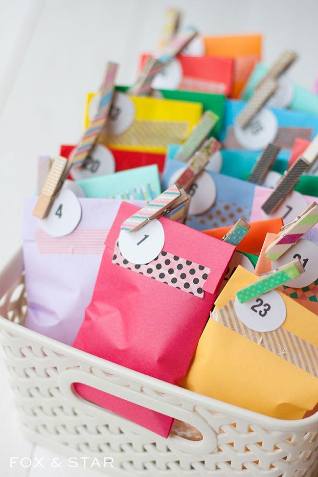 Adventní kalendář -pytlíčky v krabici
