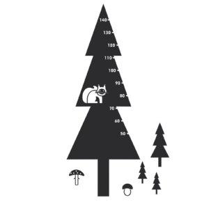 samolepky strom, veverka houby