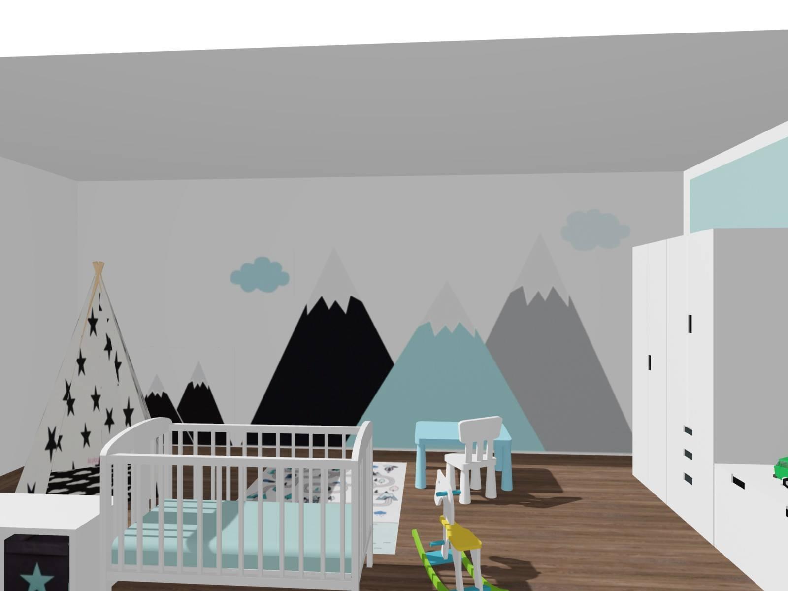 Dětský pokoj pro batole - hory