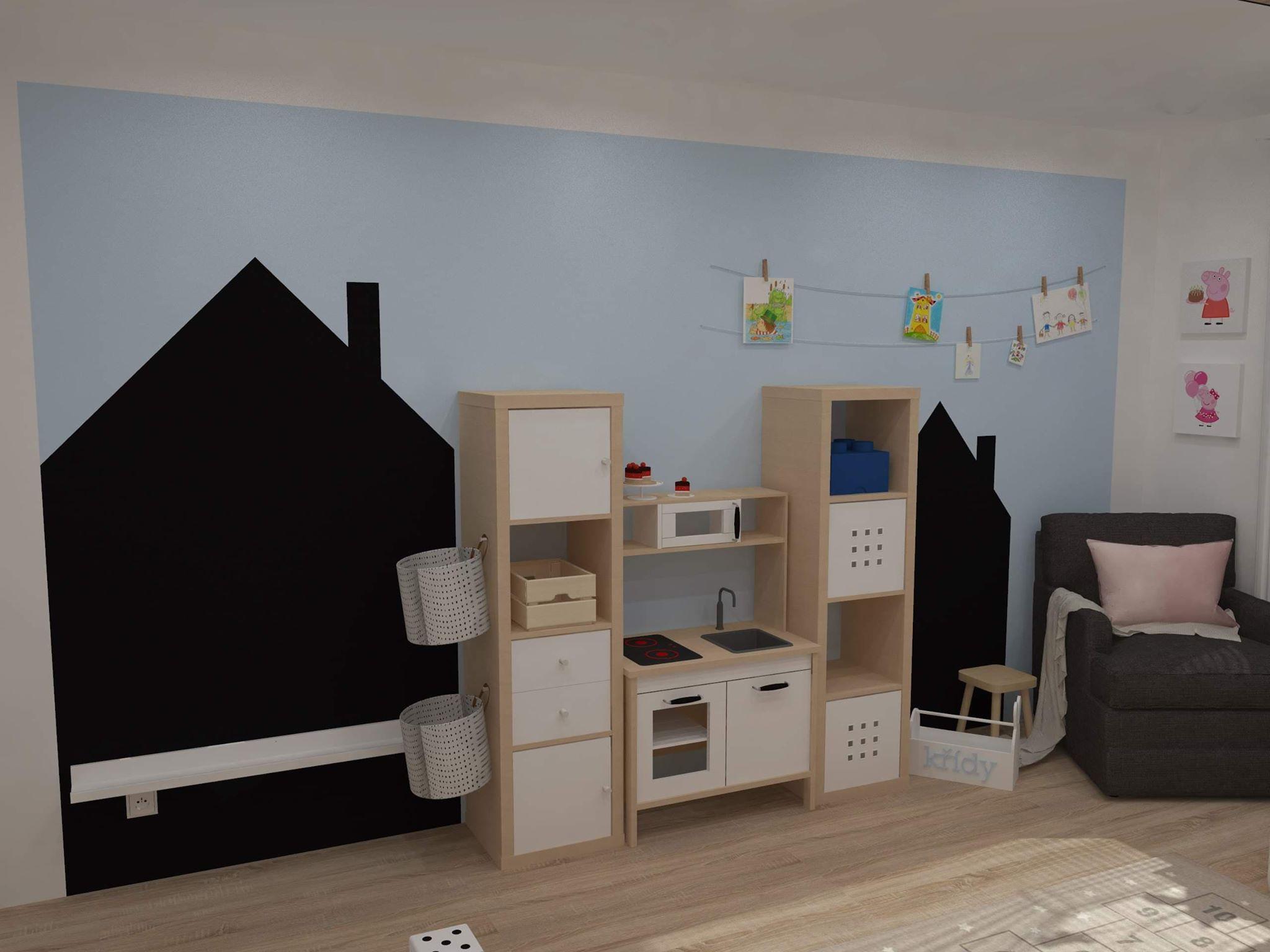 Dětský pokoj křídová tabule