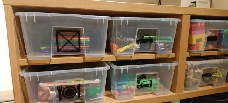 Set rozlišovacích samolepek na boxy