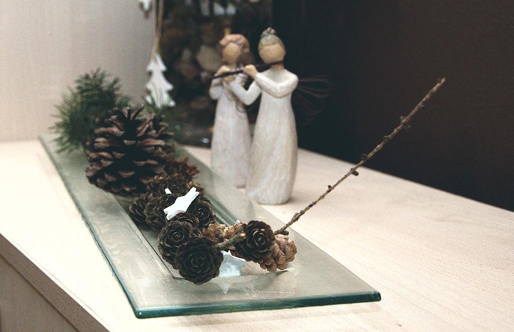 Vánoční dekorace na tácu BDK Glass