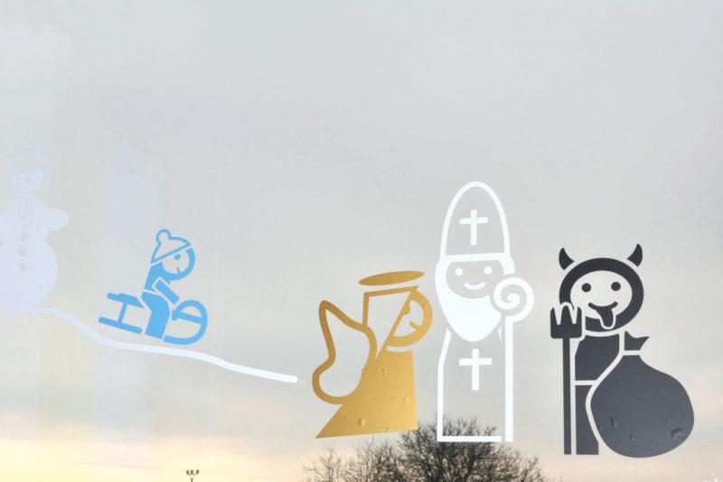 Dětské Vánoční samolepky na okno