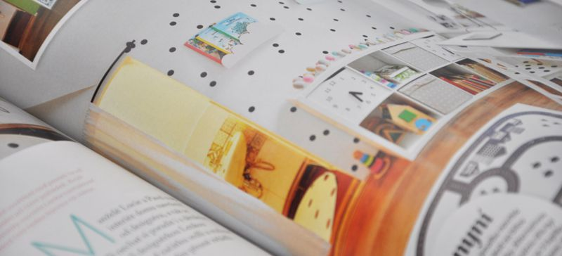 Inspirace na pokojík s puntíky od nás v časopise Nové proměny bydlení