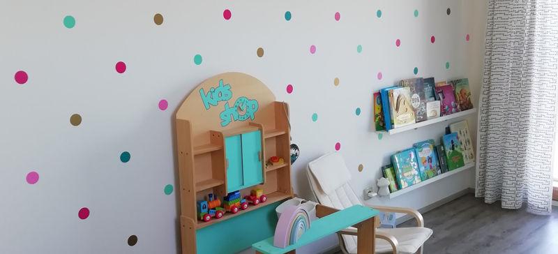 Puntíkatý dětský pokoj