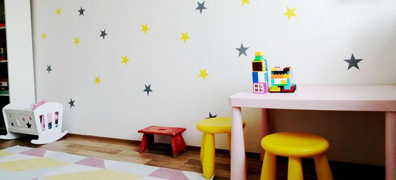 Dětský pokoj plný hvězd
