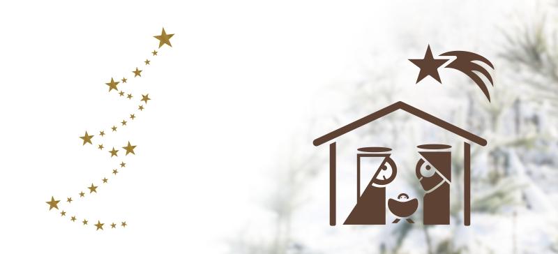 Vánoční samolepky na okno