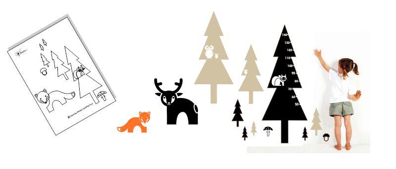 Dětský pokoj na téma les ve skandinávském stylu