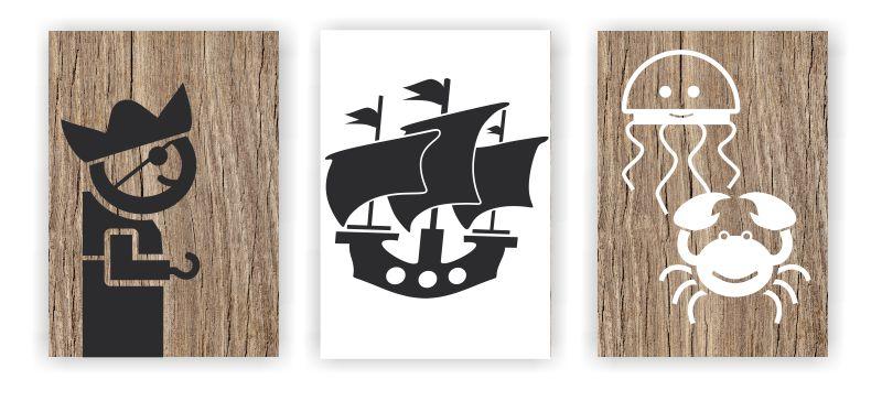 Námořnický, pirátský dětský pokoj, aneb samolepky nemusí být jen přímo na stěně