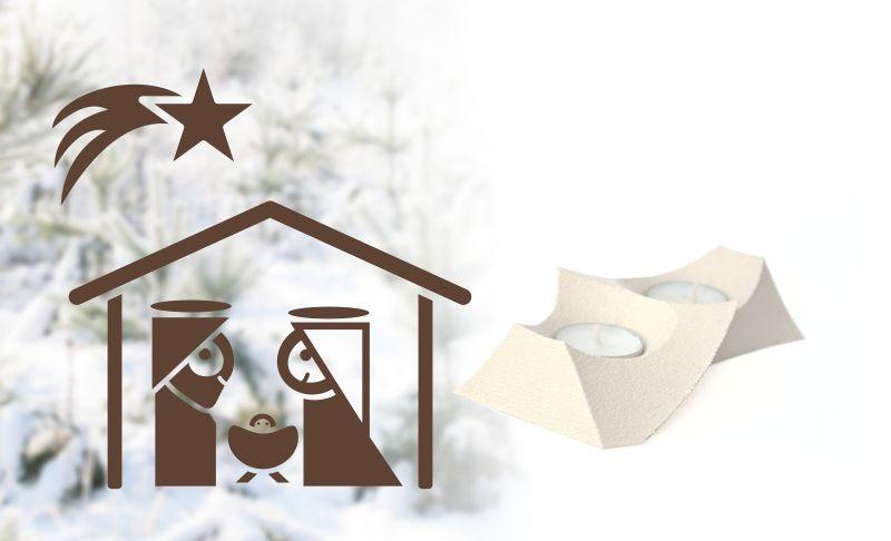 Vánoční samolepka na okno Betlém