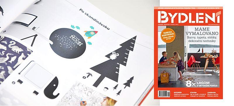 Monochromatický koncept, aneb Pieris v časopise Bydlení