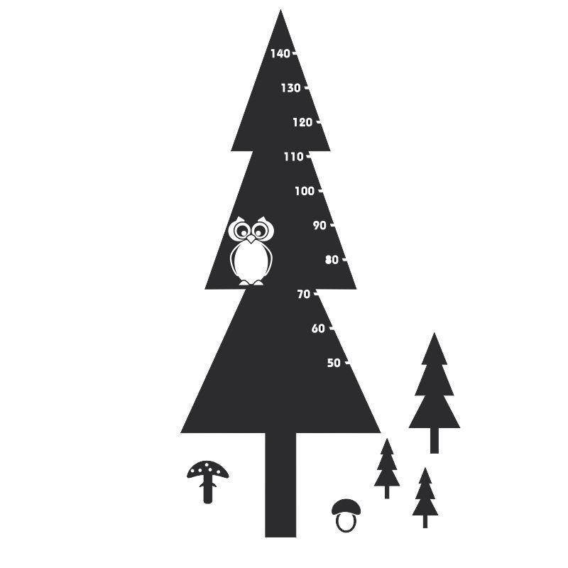 Samolepící dětský metr strom