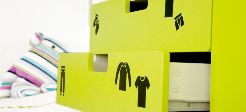 Samolepky s piktogramy oblečení pro holky i kluky