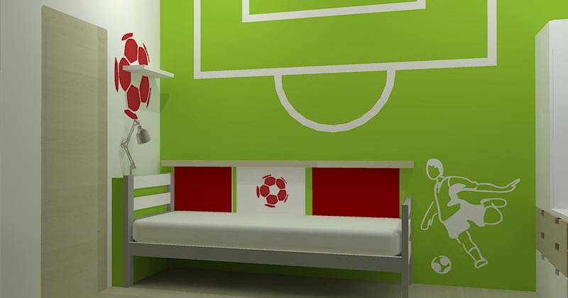 Malý dětský pokoj pro fotbalistu