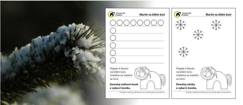 Martin na bílém koni – pranostika aneb tématický pracovní list s pieráčky