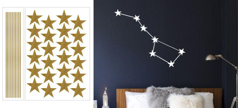 Znamení zvěrokruhu nebo jiné souhvězdí jako samolepka na zeď